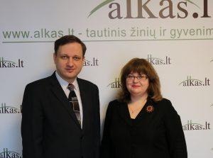 Tomas Baranauskas ir Ramunė Šmigelskytė-Stukienė | Alkas.lt nuotr.