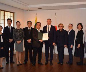 Japonijoje veiklą pradėjo trečiasis Lietuvos garbės konsulatas | urm.lt nuotr.
