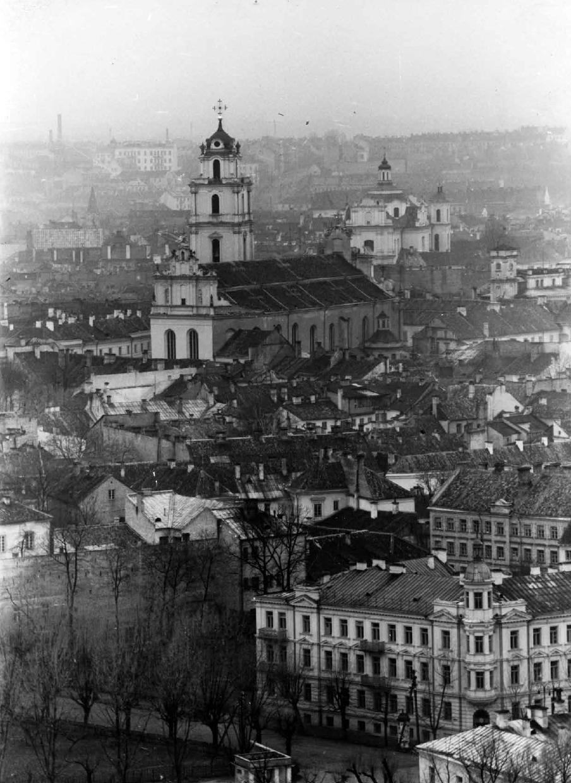 Vilniaus panorama. Šv. Jonų bažnyčia.1939 m. | LCVA, Zenono Miežlaiškio nuotr.