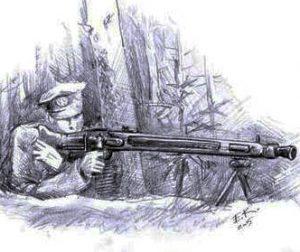 Bus pristatyta knyga apie partizaną Šapalą | E. Kuckailio pieš.