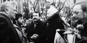 Romualdas Ozolas Vasario 16-osios minėjime Kaune 1989 m. | R. Ozolo archyvo nuotr.