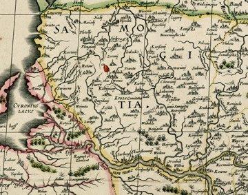 Žemaitija 1613 m. LDK žemėlapyje