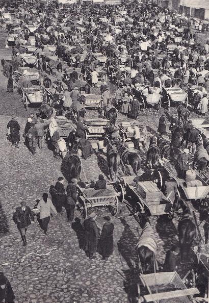 Skaisgirių, Pakalnės apskr. (dab. Bolšakovas, Slavsko r.), gyvenvietės turgus, iki 1938 m. | archyvinė nuotr.