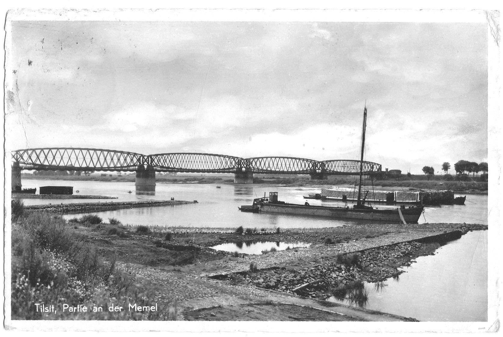 Tiltas į Mėmelį, iki 1939 m. | Atvirukas iš R. Čepo atvirukų rinkinio