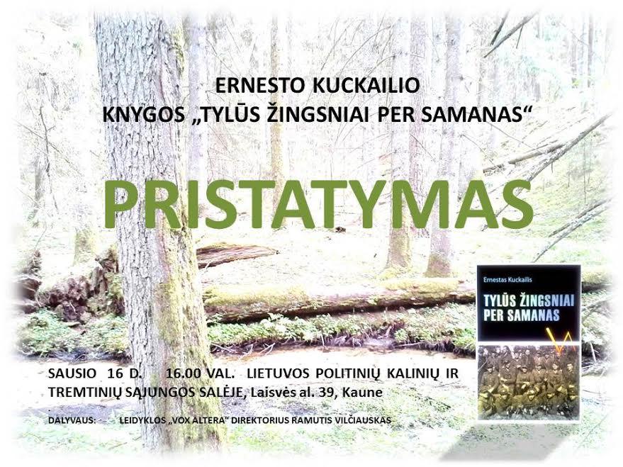 Bus pristatyta knyga apie partizaną Šapalą | rengėjų nuotr.