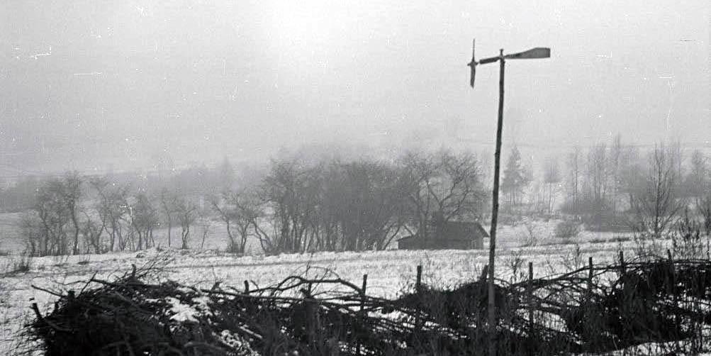 Žiema Mekių kaime, 1956 m.| R.Ozolo nuotr.