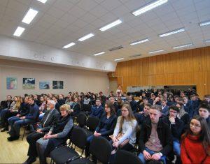 Klausomasi politologo, LR Seimo nario Lauryno Kasčiūno pasakojimo apie tarpukario Lietuvos geopolitinę padėtį ir jos diplomatijos vingius | E. Paškauskienės nuotr.