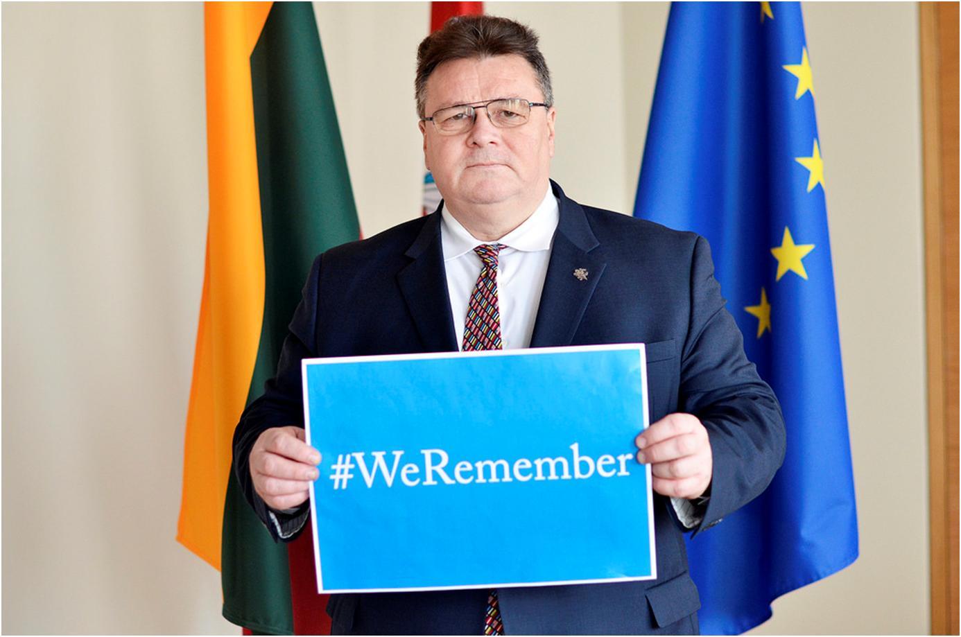 Užsienio reikalų ministras Linas Linkevičius prisiminė Aušvicą, tačiau užmiršo Kaniukus | URM nuotr.