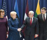 Prezidentė susitinka su Jungtinių Amerikos Valstijų viceprezidentu Miku Pensu | lrp.lt, R. Dačkaus nuotr.
