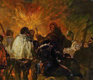 "Francisko Gojos (1746-1828) paveikslo ""Inkvizicijos naktis"" fragmentas"