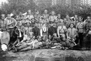Pirmojo pasaulinio karo kariai muzikantai | Rengėjų nuotr.