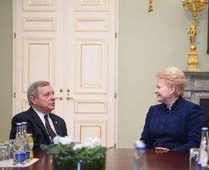 Dalia Grybauskaitė susitiko su JAV senatoriumi Ričardu Durbinu | lrp.lt, R. Dačkaus nuotr.