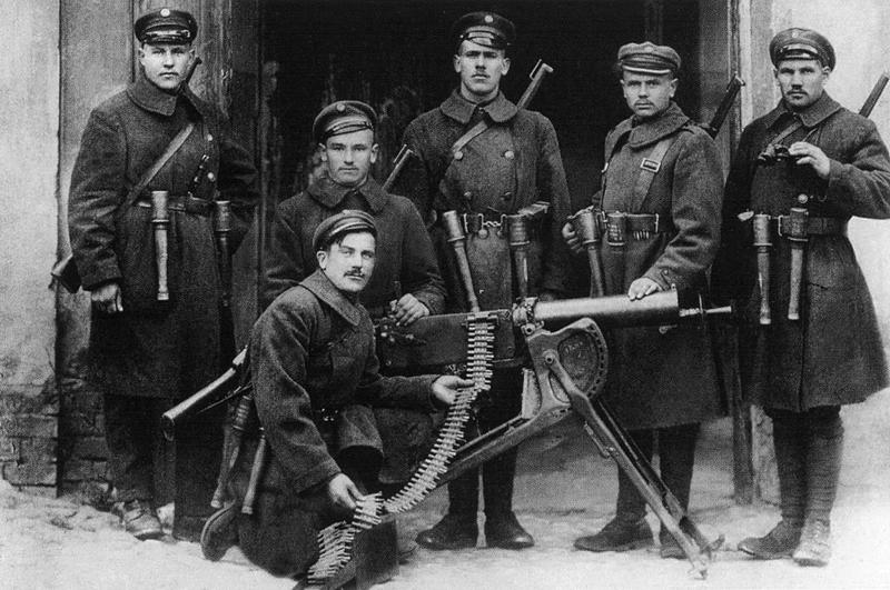 Lietuvos kariuomenės 9-tojo pėstininkų pulko kulkosvaidininkai, 1920 m. nustūmę lenkų legionus beveik iki Vilniaus | Archyvinė nuotr.