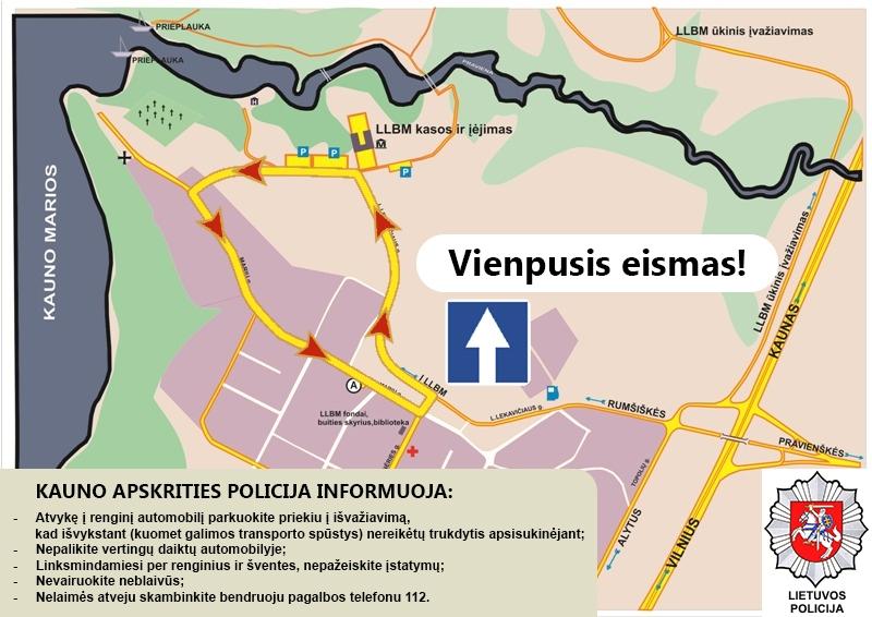 Privažiavimo žemėlapis   LLBM nuotr.