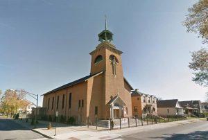 Lietuvių Visų Šventųjų bažnyčia Rouzlande (Roseland), Čikagoje (Chicago), Ilinojaus valstijoje (Illinois), JAV. Architektas Stasys Kudokas, 1959 m. | Google.lt/maps nuotr.