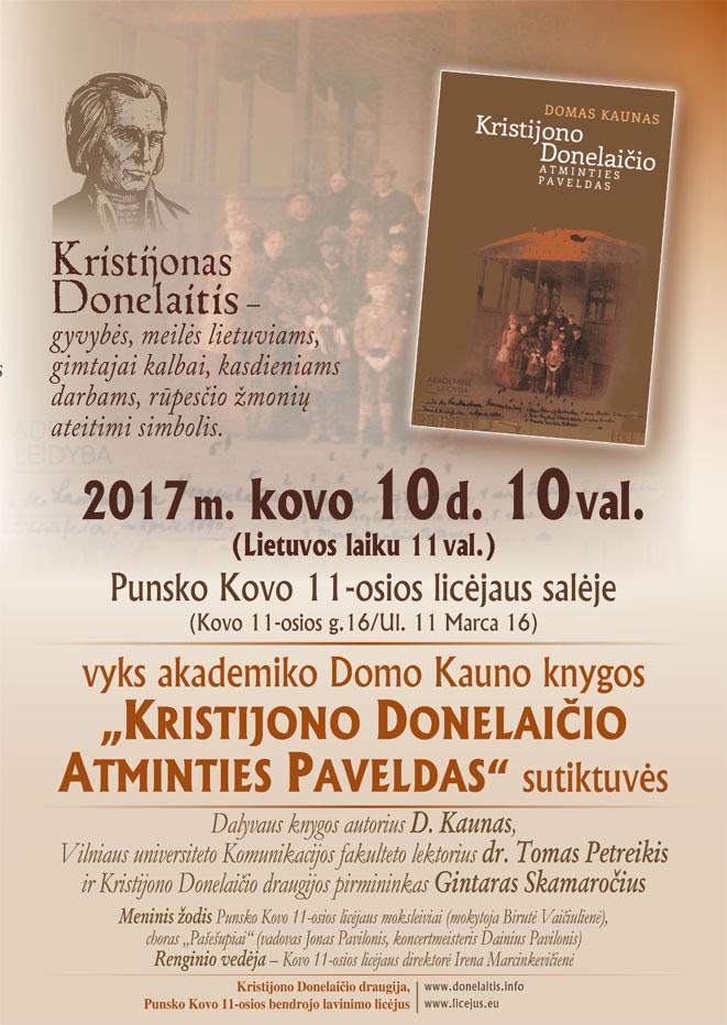 2017 03 10 Kristijonas Donelaitis