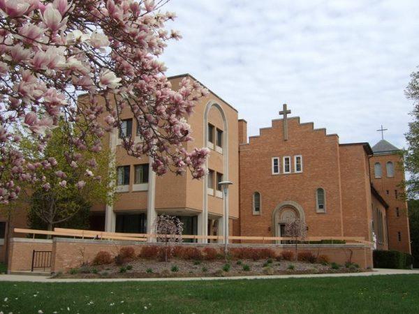 Nekaltojo Marijos prasidėjimo seserų koplyčią Putname (Putnam), Konektikuto valstijoje (Connecticut), JAV. Architektas Kazys Kriščiukaitis, 1953 m. | Immaculateconceptionsite.org nuotr.