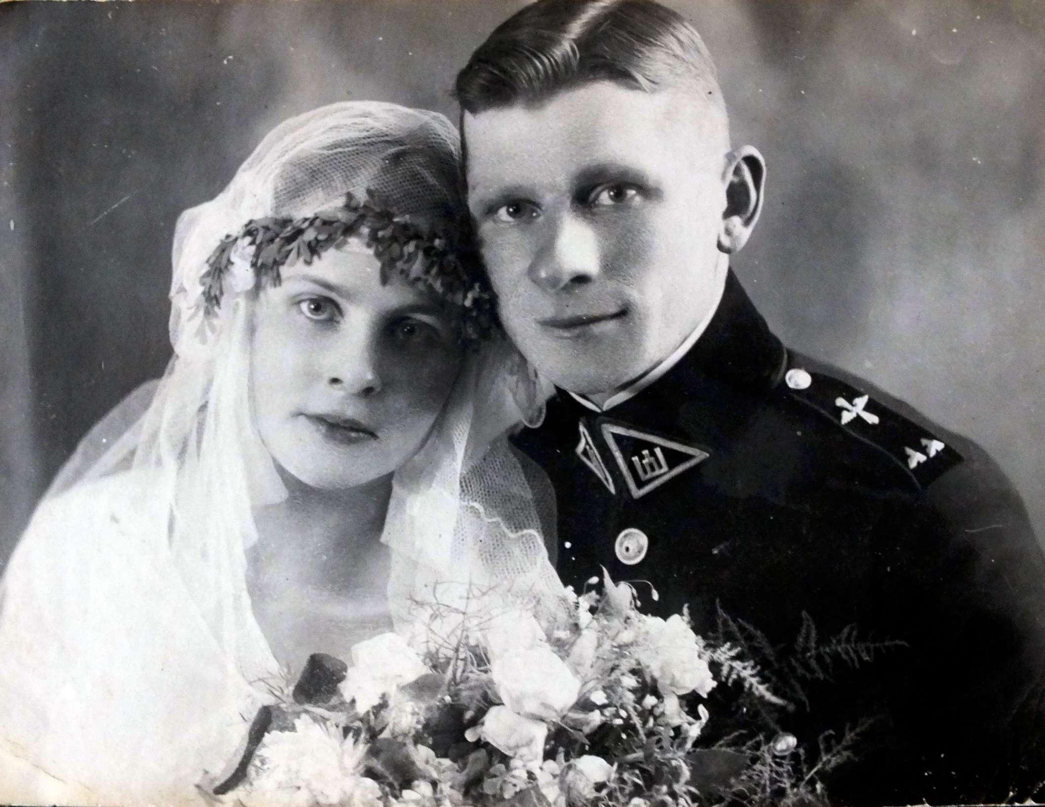 Adolfo Žygo ir Nadieždos Černojavskajos (Černiauskaitė) vestuvės, 1928 m. | V. Žygas asmeninė nuotr.