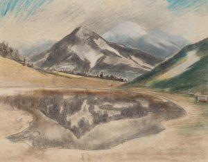 Ežeras kalnuose | P. Domšaitis. XX a. 4 deš.
