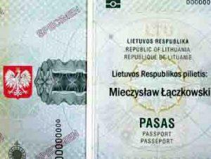 "Lietuvos Respublikos piliečio ""pasas"" | Alkas.lt nuotr."