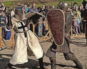 Riterių kovos Medininkų pilyje | Trakų istorijos muziejaus nuotr.