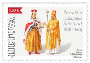 pašto žėnklas žemaičių vyskupijos įkūrimui