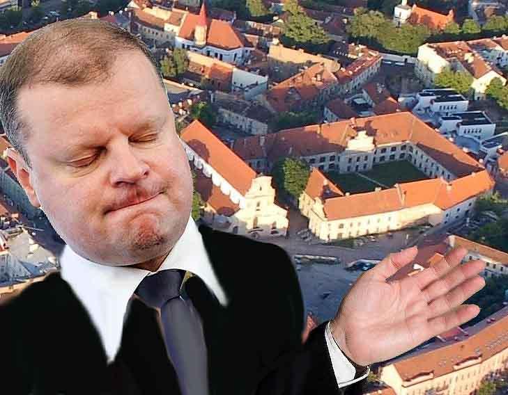 S. Skvernelis nusprendė Lenkijos ordinui atiduoti Pranciškonų vienuolyną Vilniaus senamiestyje   Alkas.lt koliažas