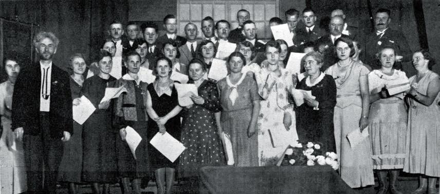 Tilžės lietuvių giedotojų draugijos choras ir jo dirigentas Vydūnas. Vytauto Didžiojo albumas. 1933 m. | LCVA nuotr.