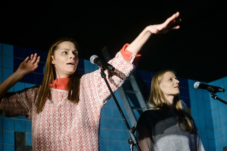 "Elžbieta Latėnaitė spektaklyje ""Europiečiai"" | L. Vansevičienės nuotr."