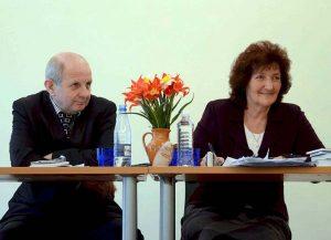 """""""Vilnijos"""" draugijos pirmininkas dr. Kazimieras Garšva ir jo pavaduotoja Nijolė Balčiūnienė   S. Nemeikaitės nuotr."""