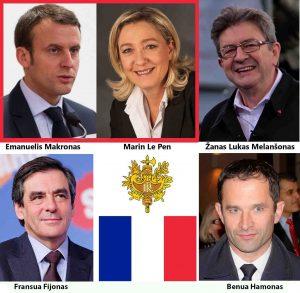Prancūzija renka Prezidentą | Alkas.lt koliažas