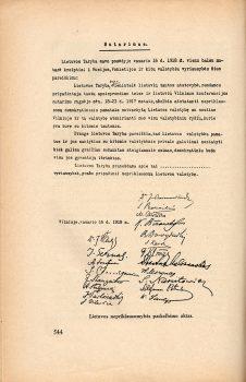 Lietuvos nepriklausomybės akto ekzempliorius, saugotas Lietuvoje (dingęs). Publikacija A. Šapokos redaguotoje Lietuvos istorijoje (1936).