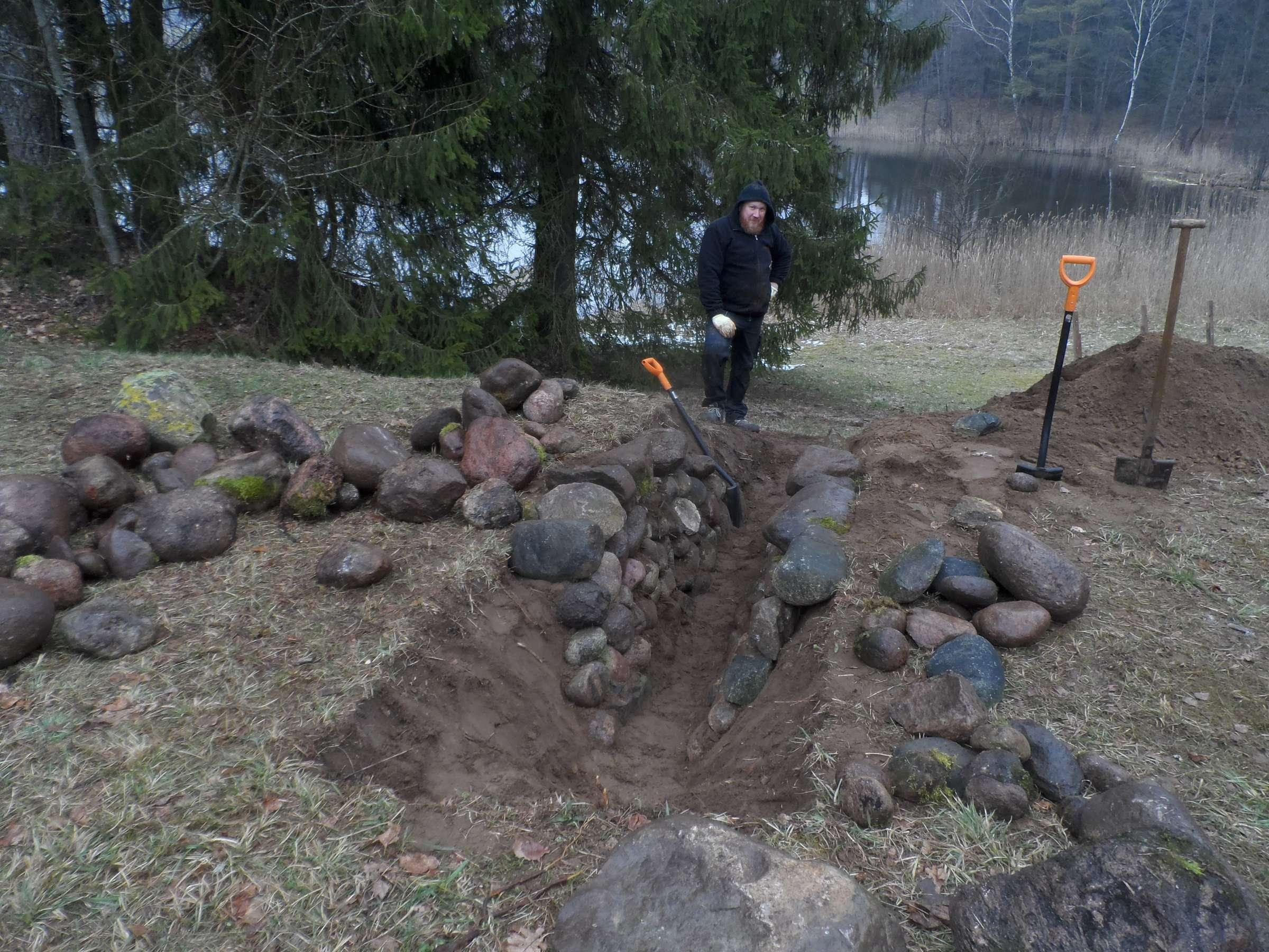 Grįstas guolis žemės ugniai. Kulionis, 2017-04-21 | Alkas.lt, J. Vaiškūno nuotr.
