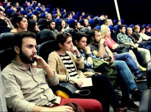 Kino sale.Ziurovai_Tbilisio kino festivalio rengeju nuotr.noosfera-foundation.com/cinedoc_tbilisi