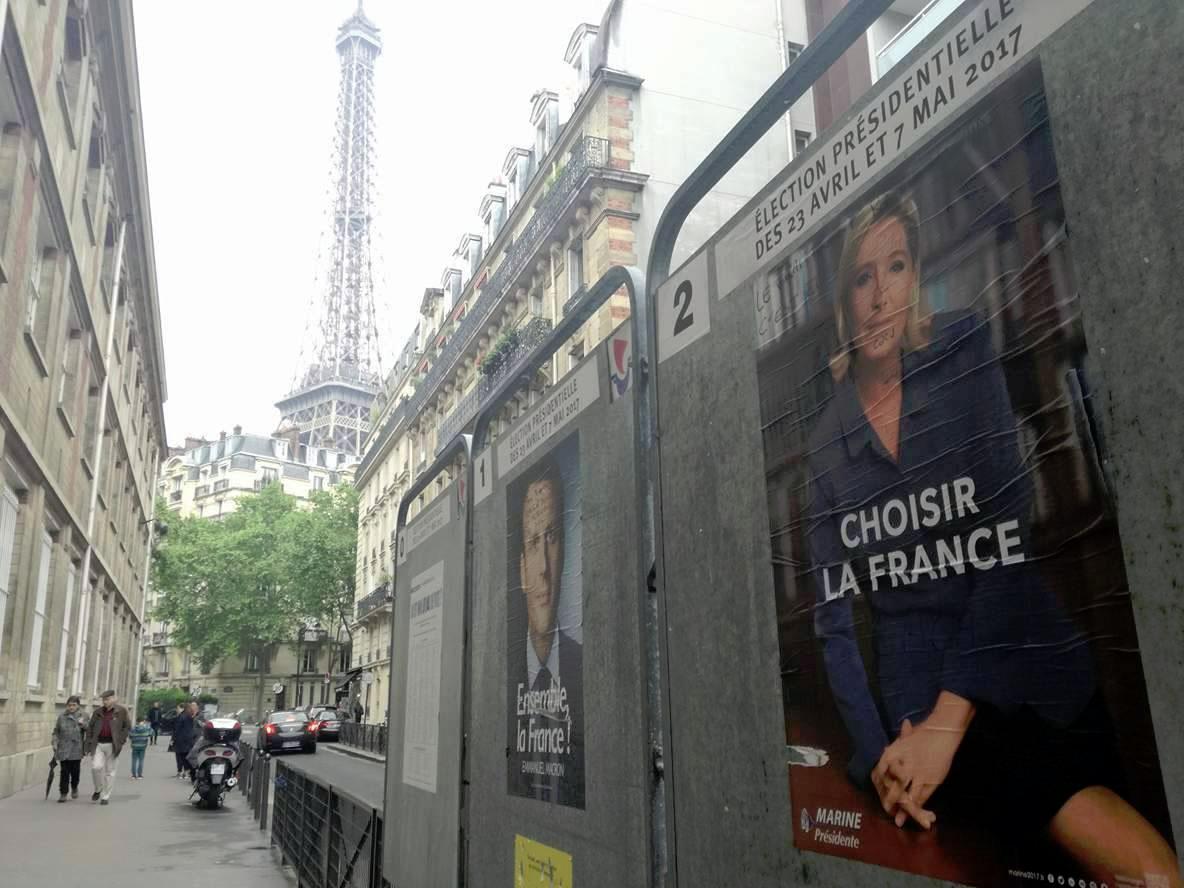 Prancūzija renka Prezidentą: E. Makronas prieš M. Le Pen | Alkas.lt, R. Cicėno nuotr.