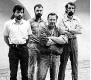 Fotografuota rengiant parodą Kauno fotogalerijoje, apie 1988 m.