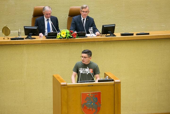 "Kalba projekto ""Misija Sibiras"" vadovas Ignas Rusilas | lrs.lt, O. Posaškovos nuotr."