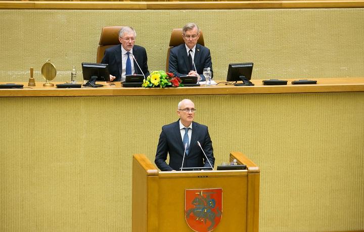 Kalba Seimo narys Stasys Jakeliūnas | lrs.lt, O. Posaškovos nuotr.