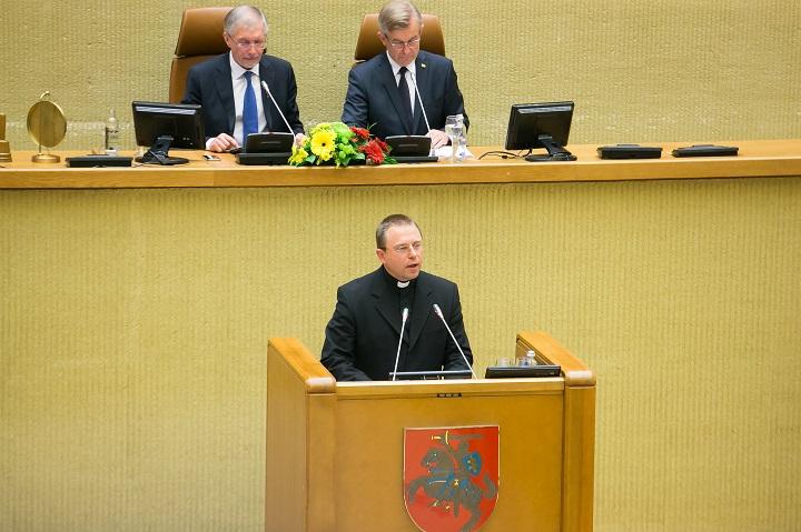 Kaišiadorių vyskupijos generalvikaras monsinjoras Algirdas Jurevičius | lrs.lt, O. Posaškovos nuotr.