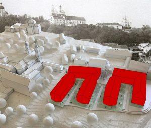 Statomi daugiabučiai Vilniaus senamiesčio širdyje – prie prie Misionierių ansamblio | Lietuvos.link nuotr.