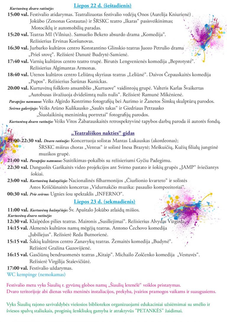 2017 07 22-2017 07 23 Teatrų šventė