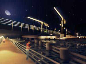 Bastionų tiltas Klaipėdoje | Architektų vizaualizacija