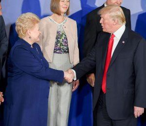 Lietuvos Prezidentė D. Grybauskaitė Varšuvoje susitiko su JAV Prezidentu D. Trampu | lrp.lt nuotr.