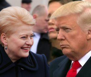 Dalia Grybauskaitė ir Donaldas Trampas | Alkas.lt koliažas