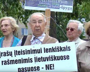 """Vilniaus sąjūdininkai kviečia į """"Atgimimo bangą""""   Alkas.lt nuotr."""