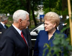 JAV viceprezidento Maikas Pensas ir Lietuvos Respublikos prezidentė Dalia Grybauskaitė | lrp.lt, R. Dačkaus nuiotr.