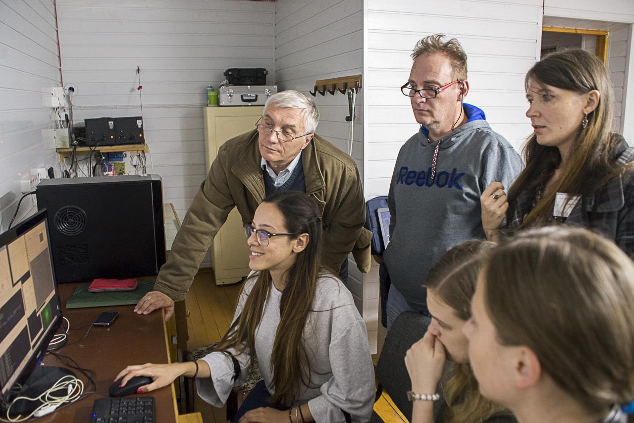 Molėtų observatorijoje patirties sėmėsi jaunieji astronomai | A. Zigmanto nuotr.