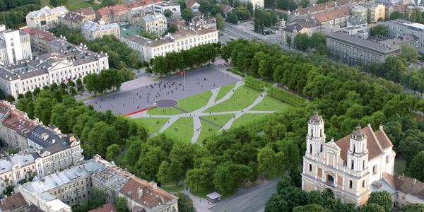 16. Lukiškių aikštės žaliosios zonos Gyvybės medis. Projekto vizualizacija | sa.lt nuotr.
