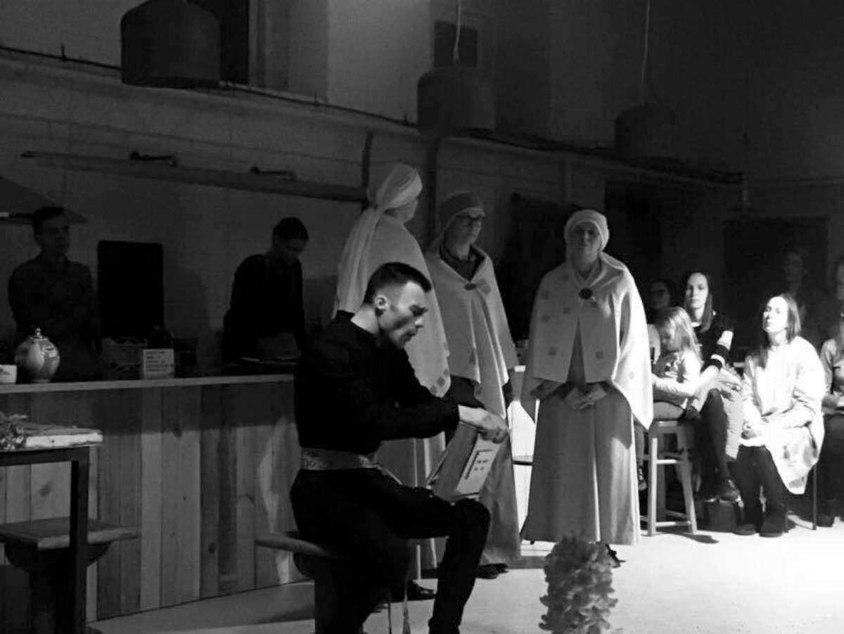 """Miesto laboratorijoje """"Trys keturiose"""" koncertuoja su žinomu pasaulyje smuikininku Abrahamu Brodžiu. 2017   Asmeninė nuotr."""