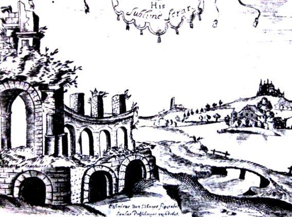 K. Snopso graviuros kopija is knygos Trakų miestas ir pilys